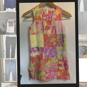 Lilly Pulitzer Girls 8 Bright Floral Print Dress